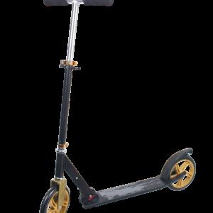 Løbehjul med Store Hjul - Sort/Guld