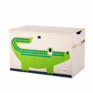 3 Sprouts - Opbevaringskasse - Green Crocodile