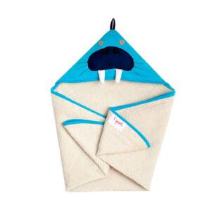 3 Sprouts - Håndklæde m. Hætte - Blue Walrus