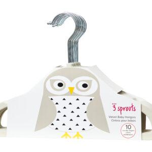 3 Sprouts - Bøjlesæt á 10 stk - Ivory Owl
