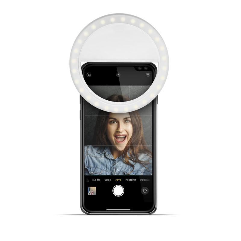 Gillian Jones - MAP Ring Light til Mobiltelefon m. Kraftigt LED Lys