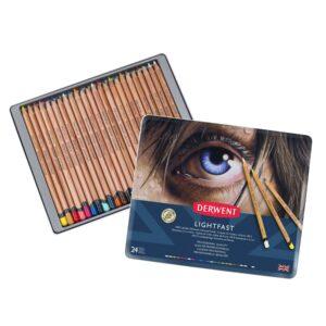 Derwent - Lightfast Pencils, 24 Tin