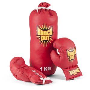 Vini Sport - Boksepude med handsker til børn, Rød (24360)