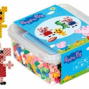 Hama Maxi - Peppa Pig perler og stiftplade i spand (8750)