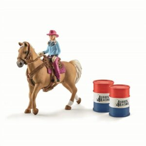 Schleich - Barrel racing with cowgirl (41417)