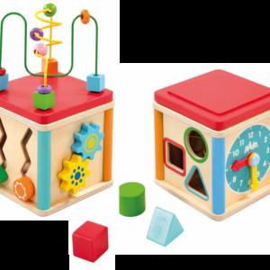 Woodlets - 5-i-1 Aktivitets Cube