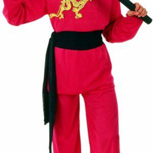Ciao - Børnekostume - Rød Ninja (8-12 år)