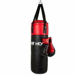 My Hood - Boksesæk med handsker - 10kg