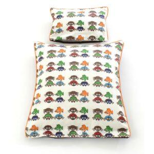 Smallstuff - Dukke sengetøj - 35 x 40 cm - Brown Bugs