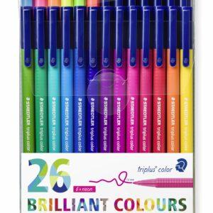 Staedtler - triplus brilliant colour, 26 stk