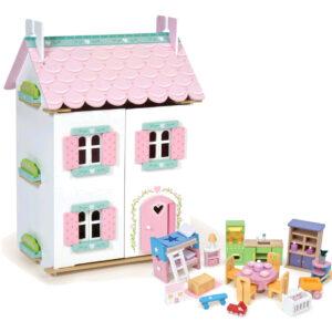 Le Toy Van - Dukkehus med møbler - Sweetheart Cottage